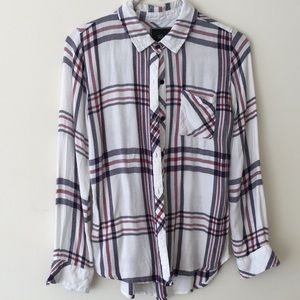 Rails plaid long sleeve button up shirt so small